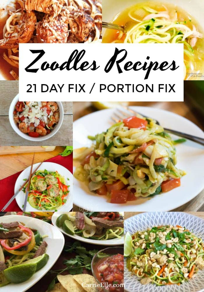 Zoodles Recipes 21 Day Fix