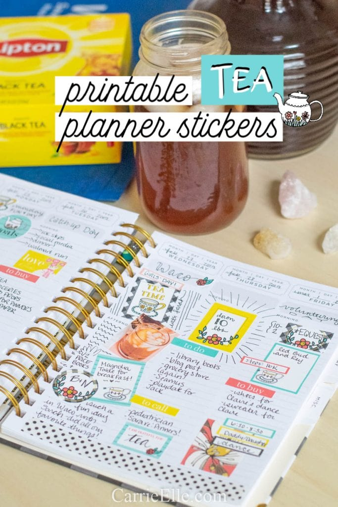 Printable Tea Stickers