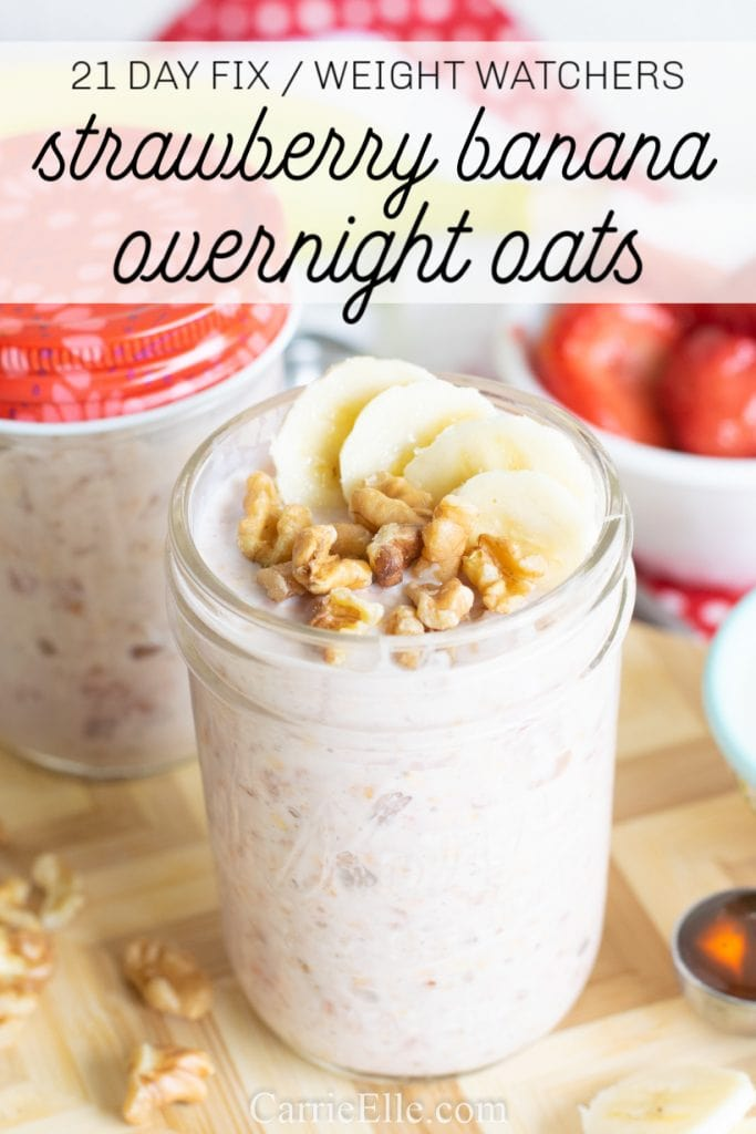 21 Day Fix Weight Watchers Overnight Oats
