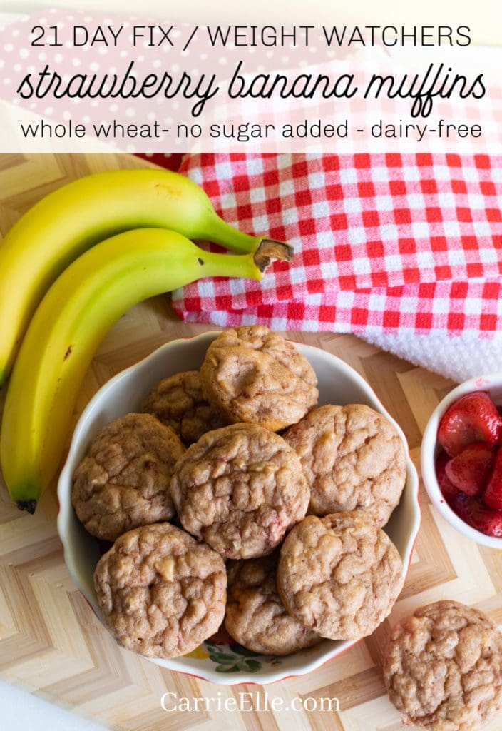 21 Day Fix Weight Watchers Strawberry Banana Muffins