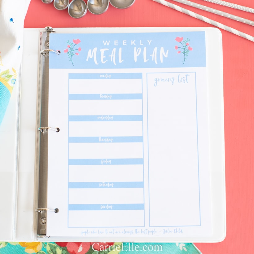 Printable Meal Planner Template for May (1)