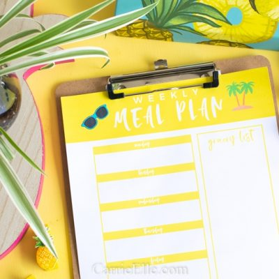 Printable Weekly Meal Planner Template for June