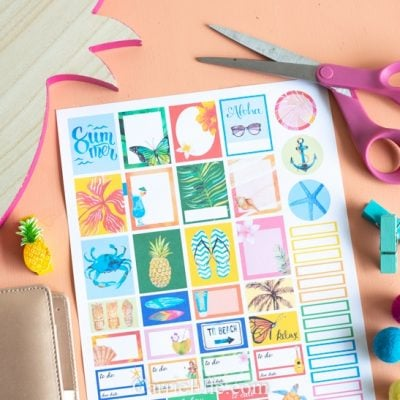 Free Printable Beach Planner Stickers