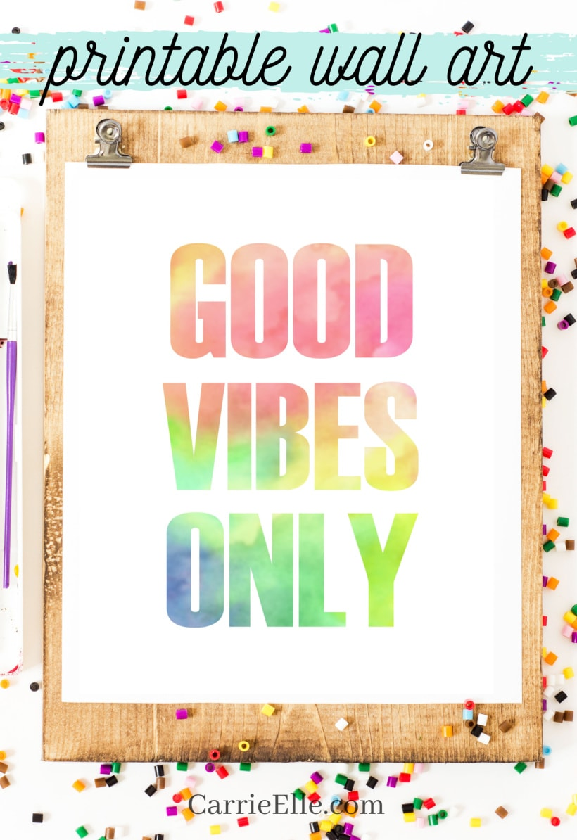Printable Good Vibes Wall Art