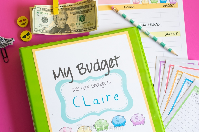 Free Monthly Budget Printable Worksheet for Kids