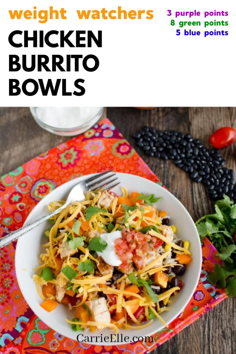 promo image with bowl of chicken burrito