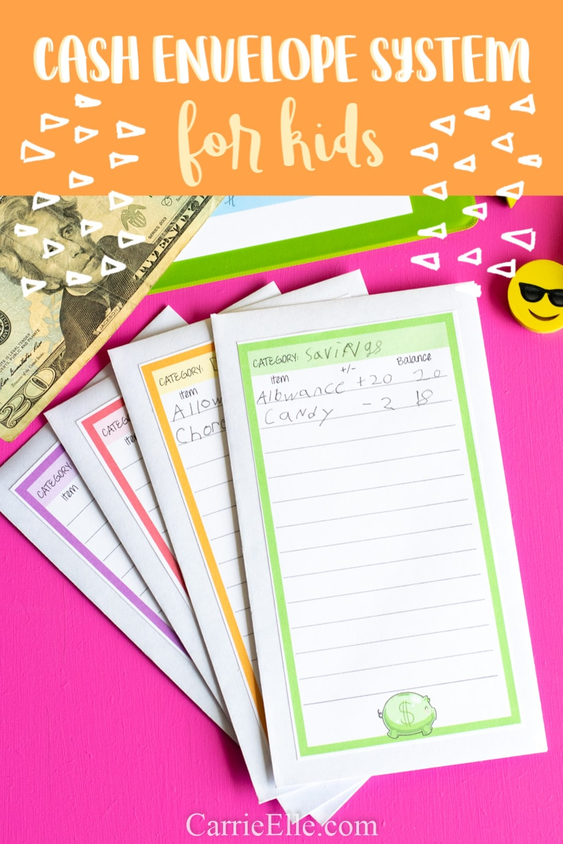 picture regarding Printable Cash Envelopes named Printable Do it yourself Money Envelope Approach for Young children - Carrie Elle