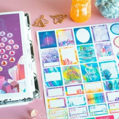 Printable Yoga Planner Stickers