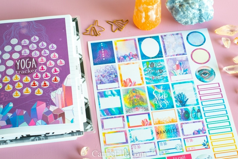 Printable Yoga Planner Stickers