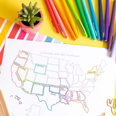 Printable USA Travel Map