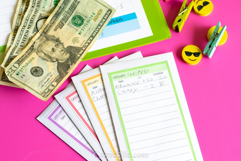 Printable Cash Envelopes for Kids