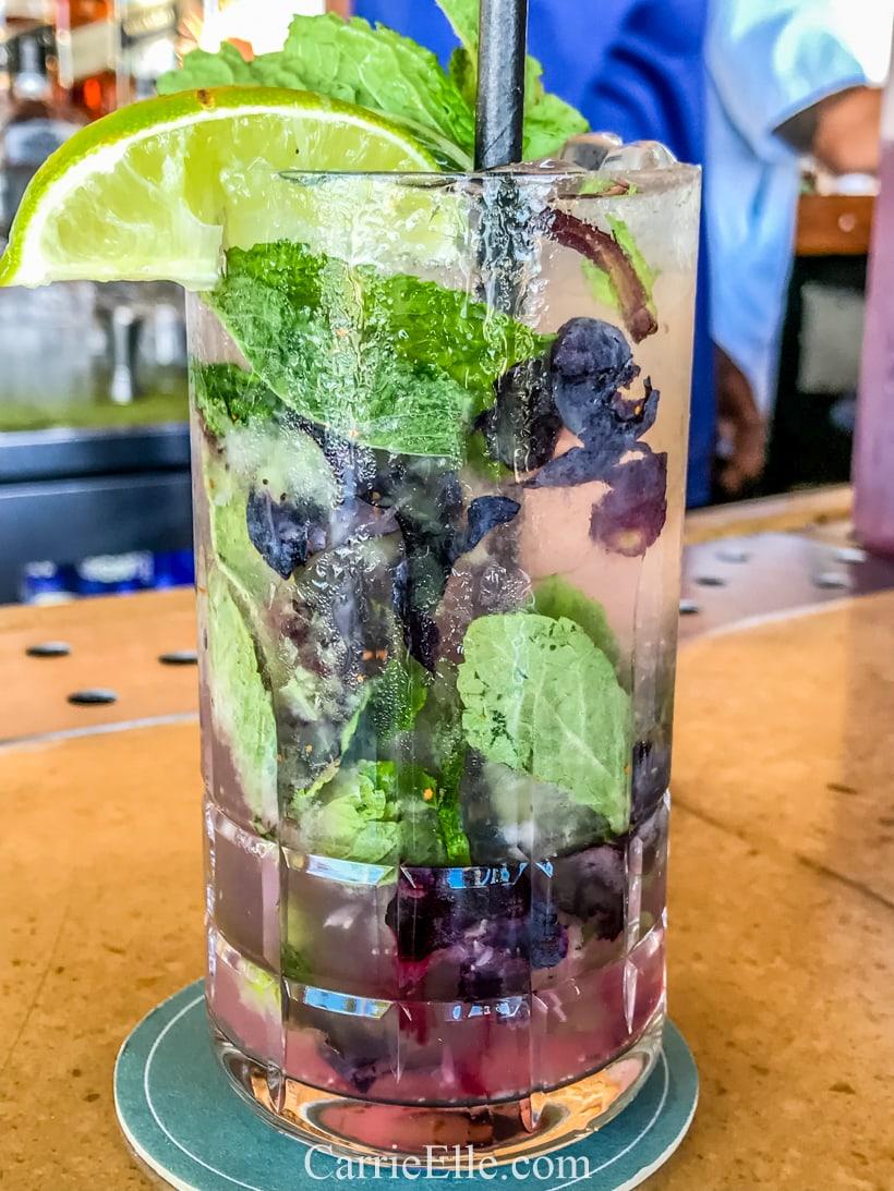 Blueberry Mojito Cheeca Lodge