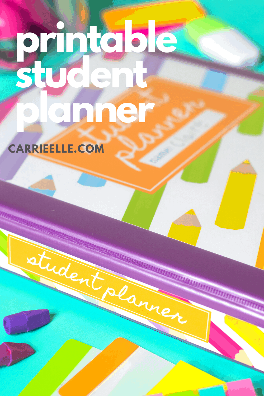 Printable Student Planner CarrieElle.com