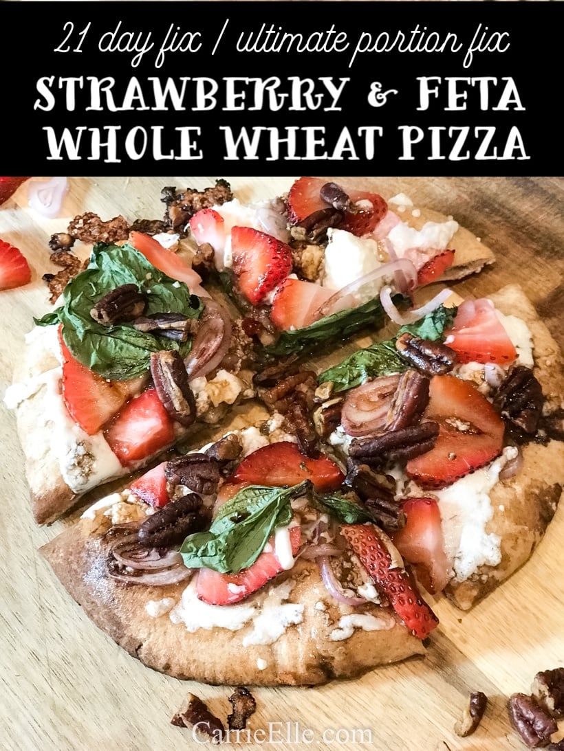 Strawberry Feta Pizza 21 Day Fix