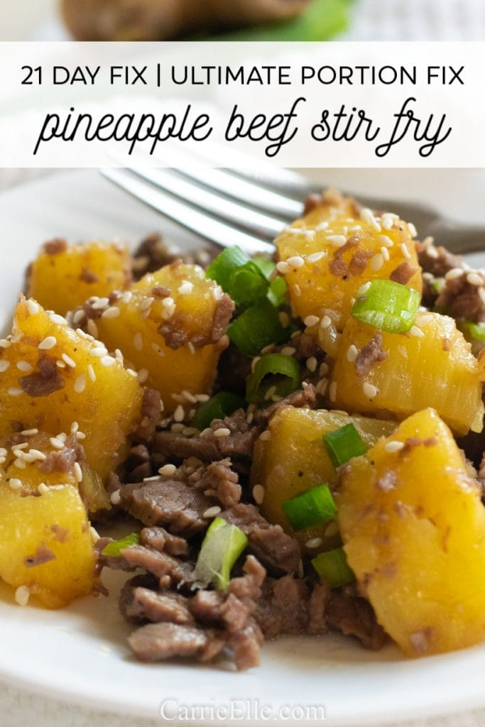 21 Day Fix Easy Beef Pineapple Stir Fry