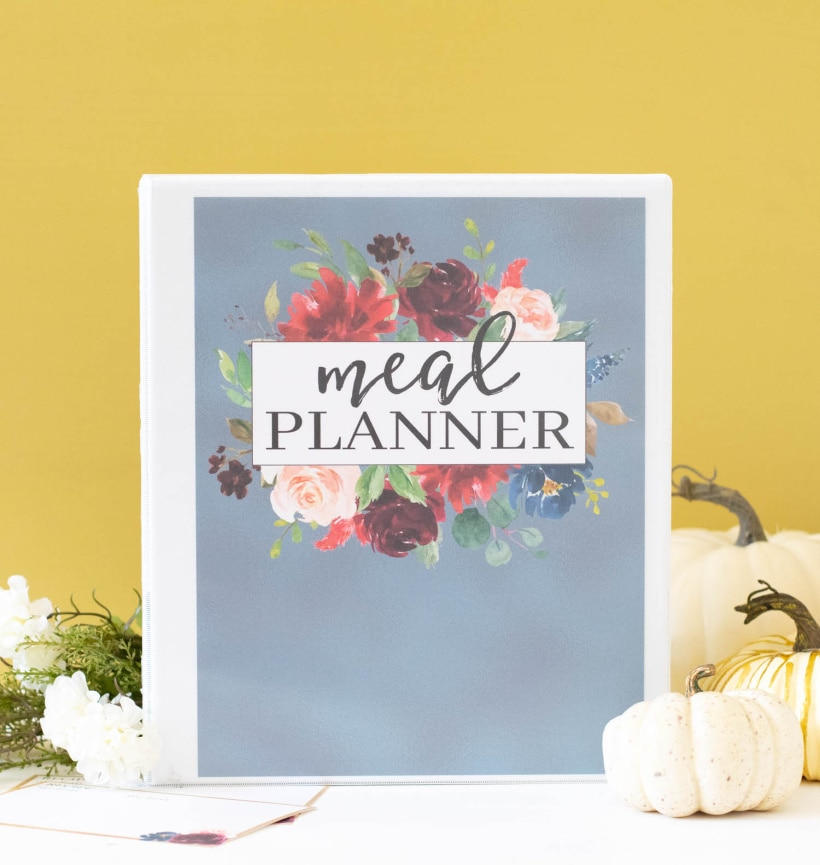 Carrie Elle Fall Printable Meal Planner Binder