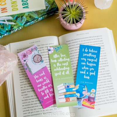 Printable Book Lover Quote Bookmarks