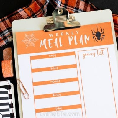 Printable Weekly Meal Planner for October