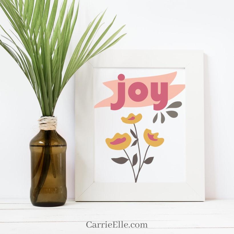 Free Printable 5x7 Joy Print