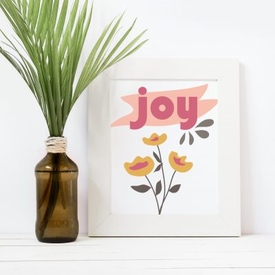 Free Printable 5×7 Joy Print