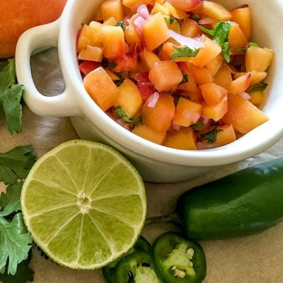 Spicy Peach Salsa (21 Day Fix and Weight Watchers-approved!)