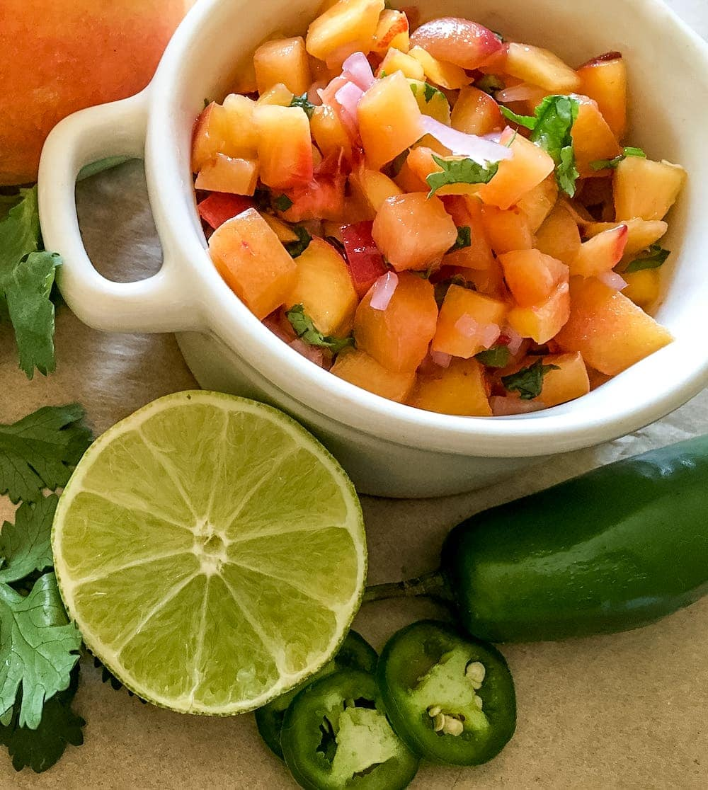 Spicy Peach Salsa (21 Day Fix And Weight Watchers-approved