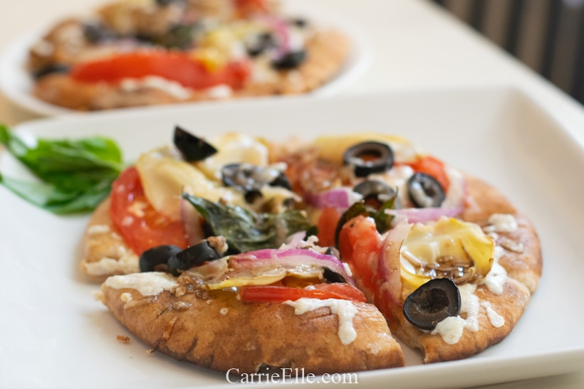 21 Day Fix Artichoke Heart Pizza