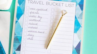 Printable Travel Bucket List CarrieElle.com