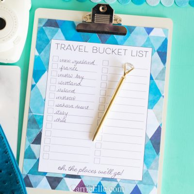 Printable Travel Bucket List
