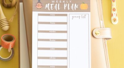 Printable Weekly Meal Planner for November