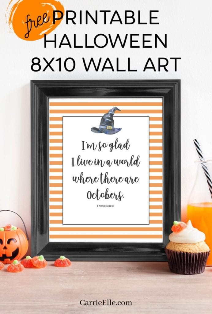 Printable 8x10 October Wall Art