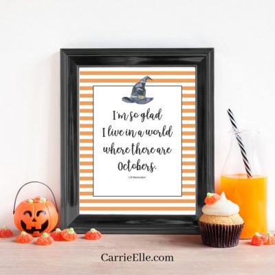 Printable October Wall Art