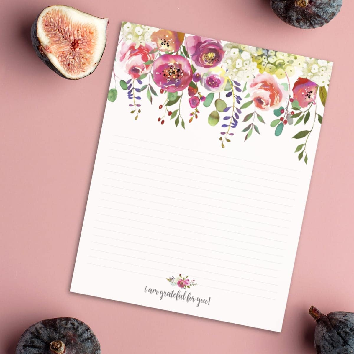 Printable Gratitude Stationery CarrieElle.com