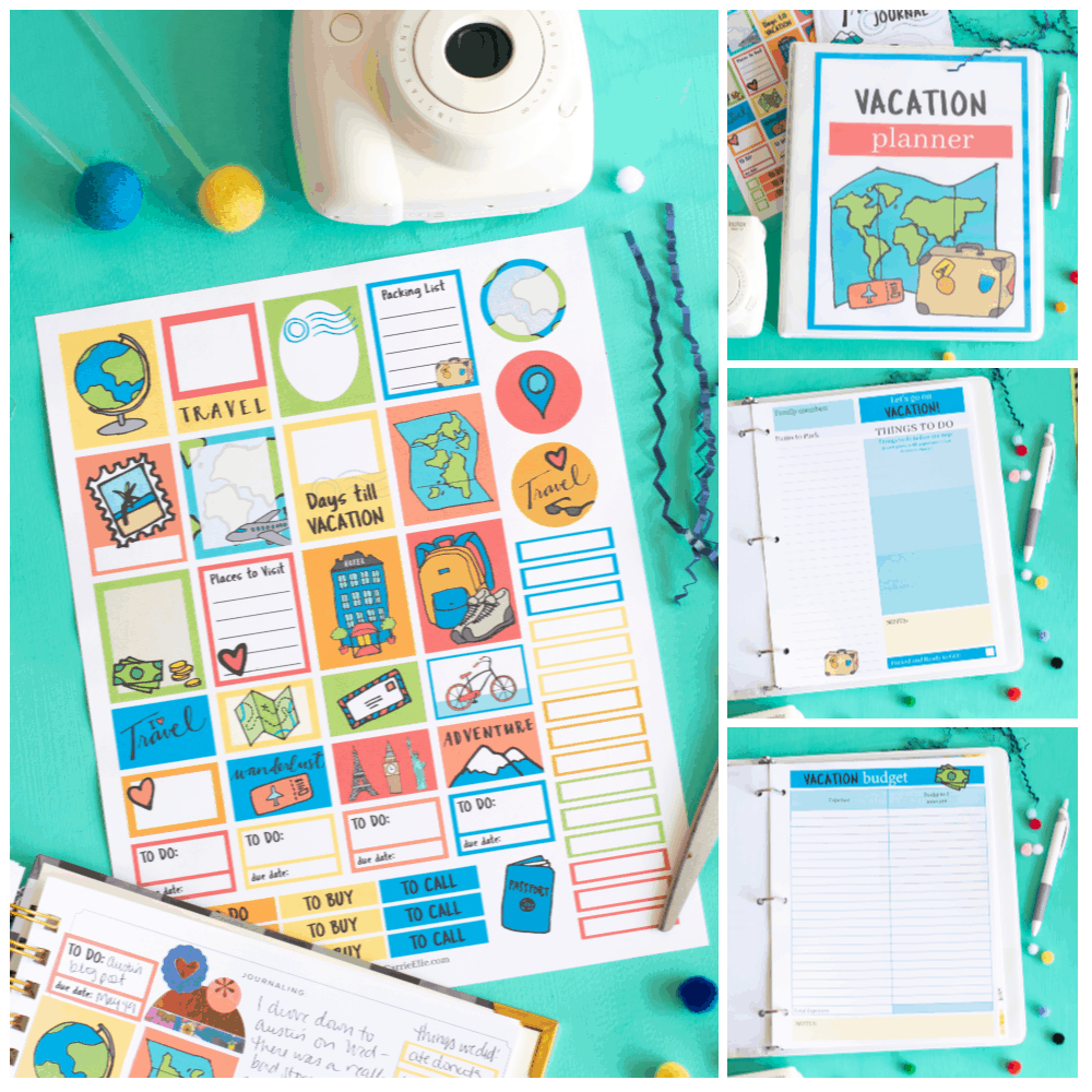 Printable Vacation Binder Shop.CarrieElle.com