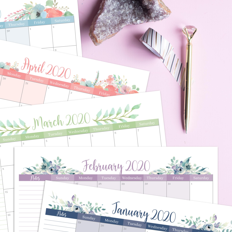 Carrie Elle 2020 Floral Calendar
