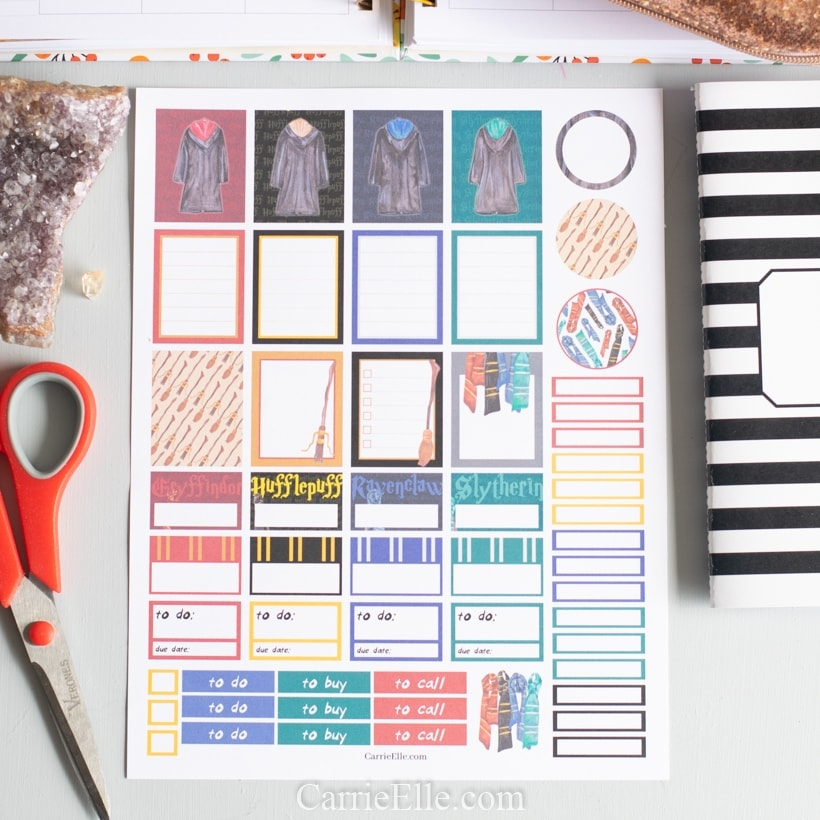 Harry Potter Planner Stickers