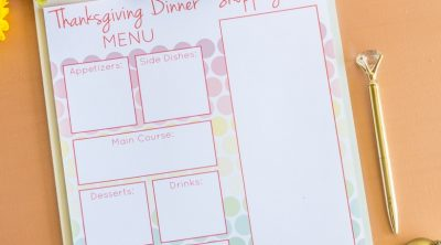 Printable Thanksgiving Dinner Planner CarrieElle.com