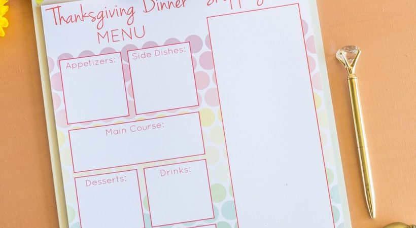 Free Printable Thanksgiving Meal Planner to Get You Organized!