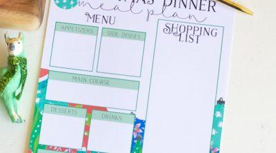 Christmas Meal Planner Printable