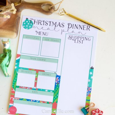 Christmas Meal Planning Printables
