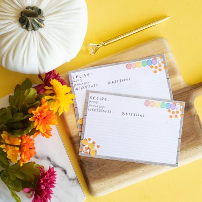 Printable 21 Day Fix Recipe Cards for Fall