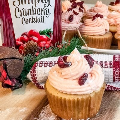 Cranberry Orange Cupcakes with Cranberry Frosting