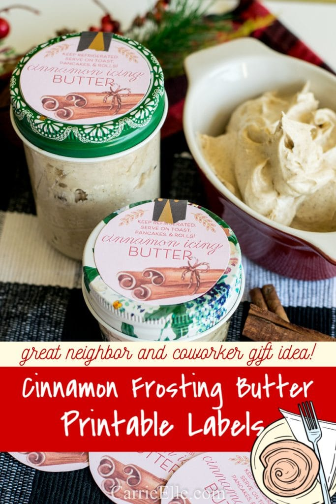 Printable Cinnamon Frosting Labels