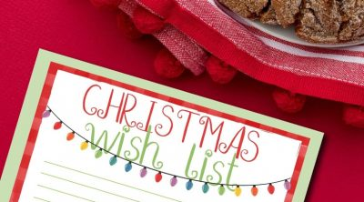 Printable Christmas Wish List CarrieElle.com