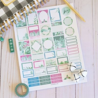 Winter Wonderland Planner Stickers