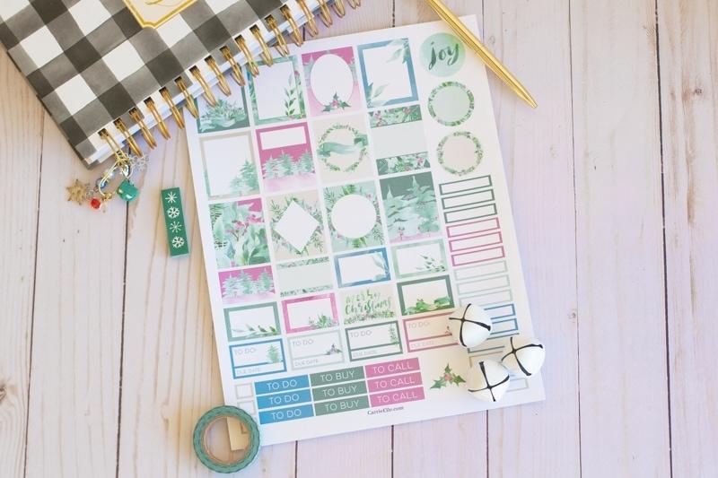 Winter Wonderland Planner Stickers CarrieElle.com