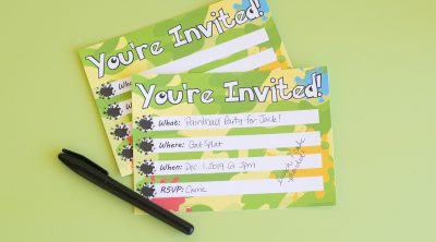 Printable Paintballl Party Invitations