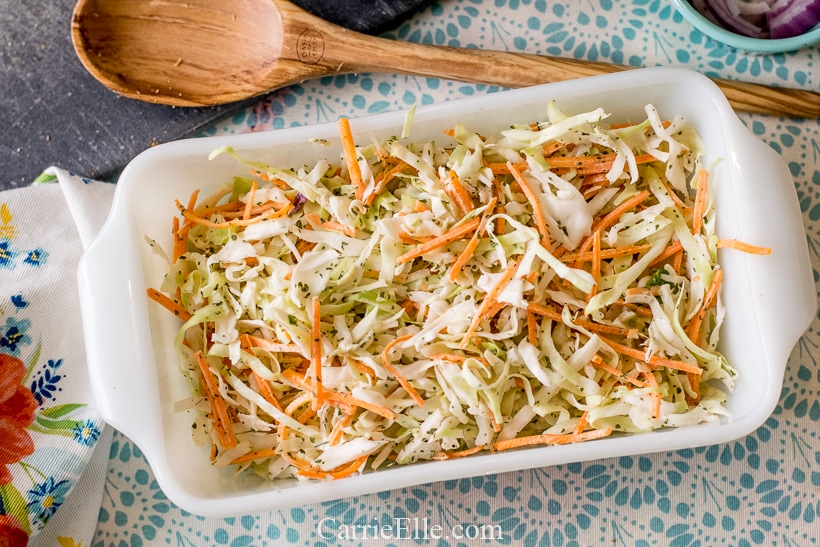 Low Cal, Low Carb Coleslaw