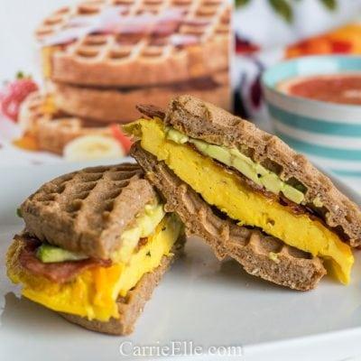 Protein Waffle Sandwich