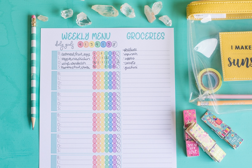 Printable 21 Day Fix Meal Planner CarrieElle.com
